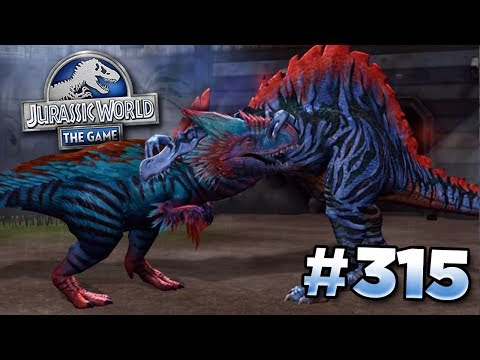 A Spinosaur to take on Yudon!    Jurassic World - The Game - Ep315 HD