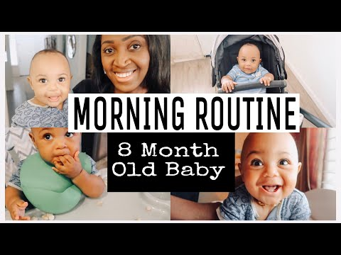 8 MONTH OLD MORNING ROUTINE | WHAT MY 8 MONTH OLD BABY EATS IN A DAY