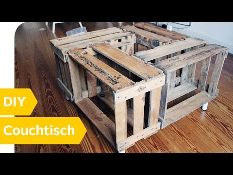 upcycling diy couchtisch aus alten weinkisten bauen youtube. Black Bedroom Furniture Sets. Home Design Ideas