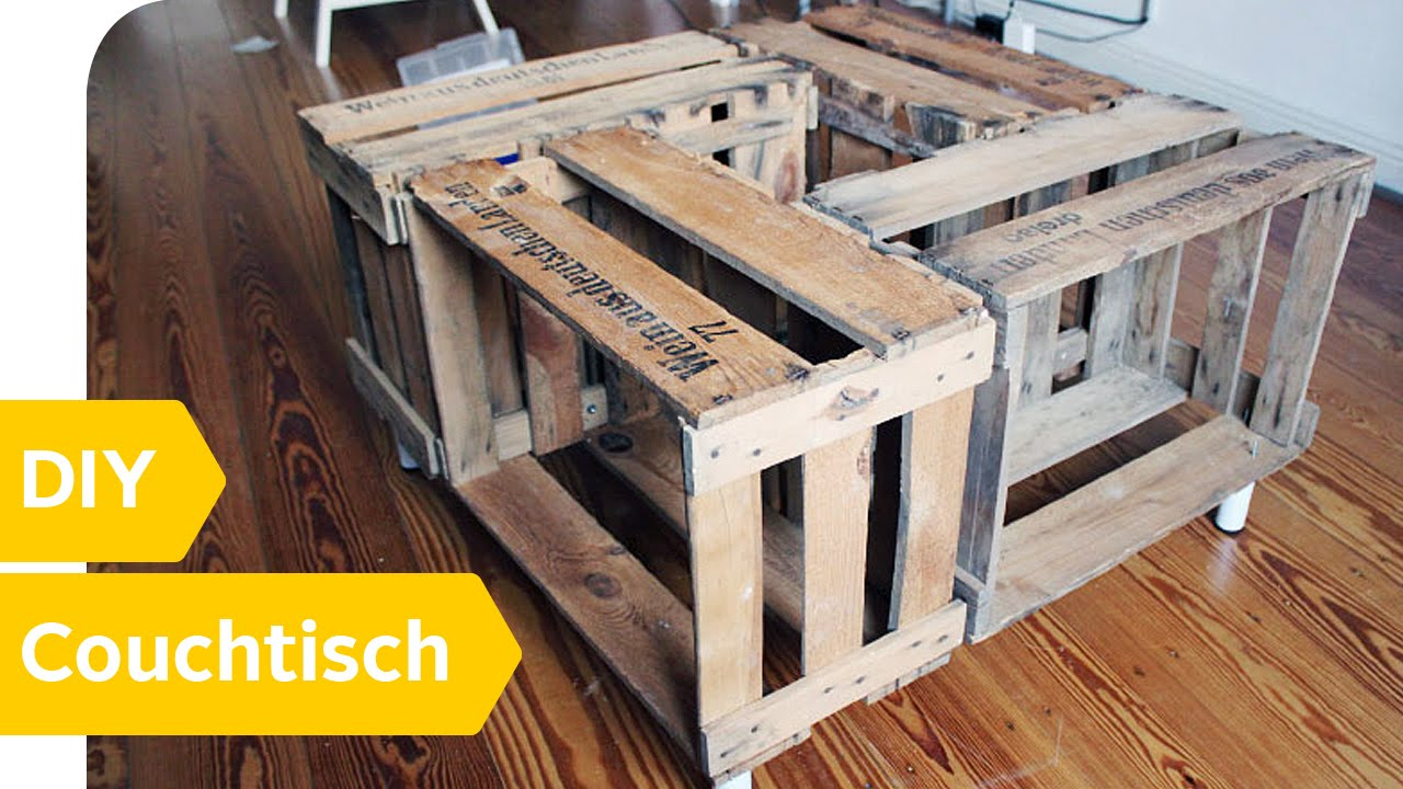 Holz Couchtisch Selber Bauen Diy Anleitung Couchtisch Aus Alten Weinkisten Einfach Selber Bauen Roombeez Powered By Otto