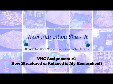 VHC 2016-2017 Assignment #1: Structured or Relaxed?