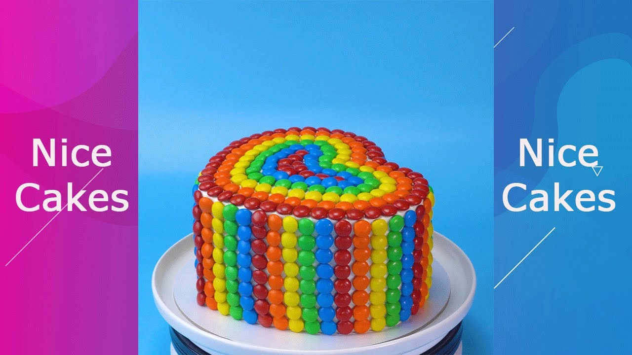 Amazing Heart Cake With Candy