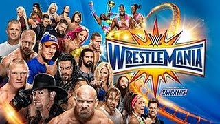WrestleMania 33 preditions