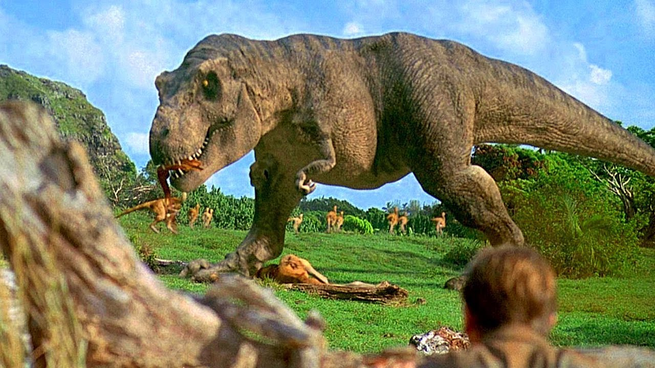 T Rex depicted in Jurassic Park