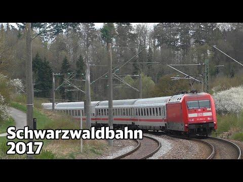 Bahnverkehr auf der Schwarzwaldbahn 2017 | Hzl Ringzug, Intercity und Regionalexpress