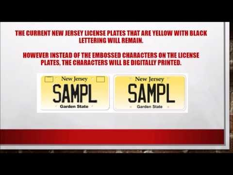 Makeover For New Jersey License Plates Coming For The Vehicle Registration Plate