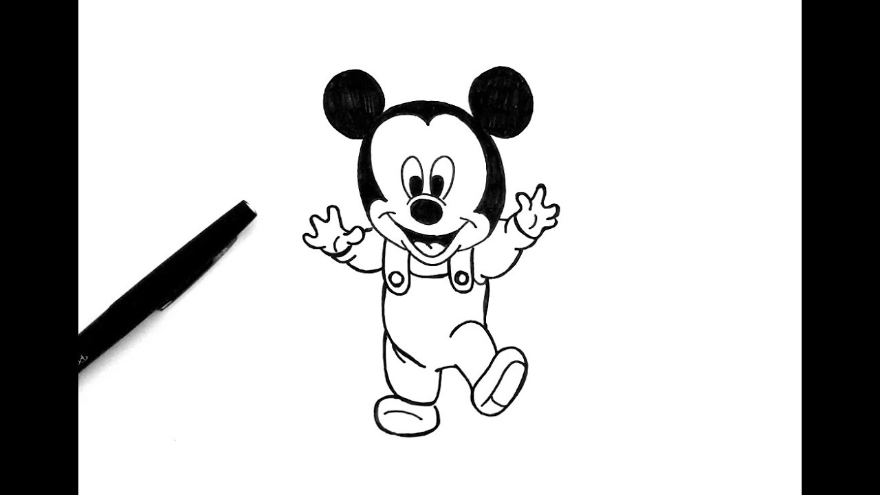 Comment Dessiner Mickey Bebe Youtube