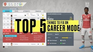 The Top Five Things to Fix on Career Mode for FIFA 21