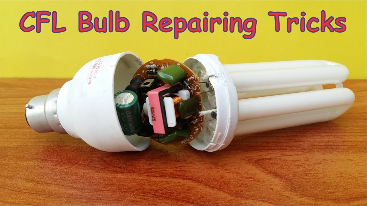 Simple repair of a miniature fluorescent lamp 27