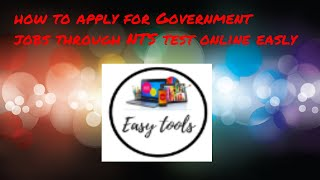 how to apply for Government jobs  through NTS test online easly