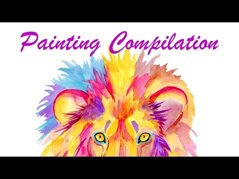 colorful-watercolor-speed-painting-compilation---oddly-satisfying-art-videos