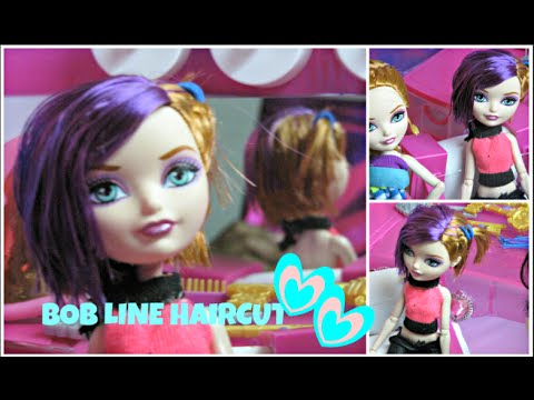 How to cut a perfect bob line doll haircut cute dolls hairstyles how to cut a perfect bob line doll haircut cute dolls hairstyles ever after high barbie winobraniefo Image collections