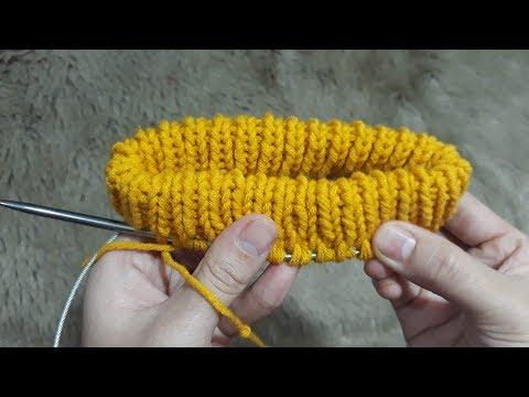 Cách Đan Mũi Gập Đôi Cho Cổ Áo, Lưng Quần.../ How To Knit Double Stitches