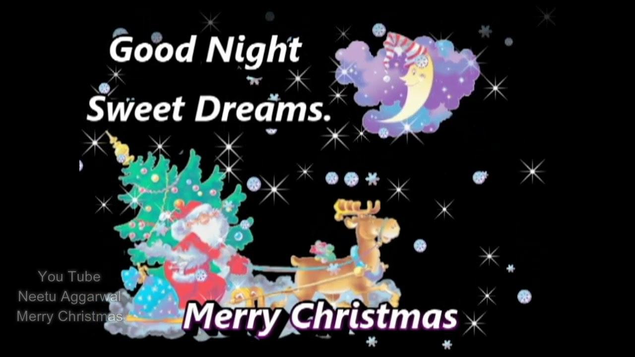 Merry Christmas Good Night Greetings Wishes E Card Whatsapp