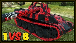 Rheinmetall Skorpion G - 11 Kills - 1 VS 8 - World of Tanks Gameplay