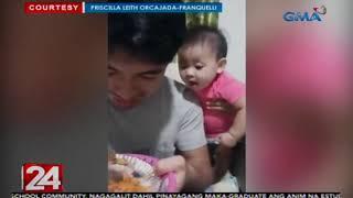 24 Oras: Baby na takam na takam sa pagkain ng kanyang katabi, kinagigiliwan online