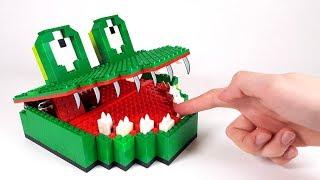 как сделать крокодила из лего