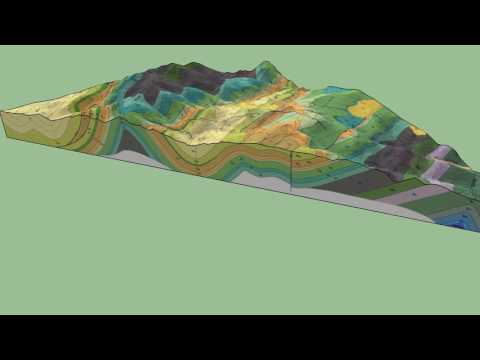 Geologic 3D Block Diagram of Poker Peak, Idaho