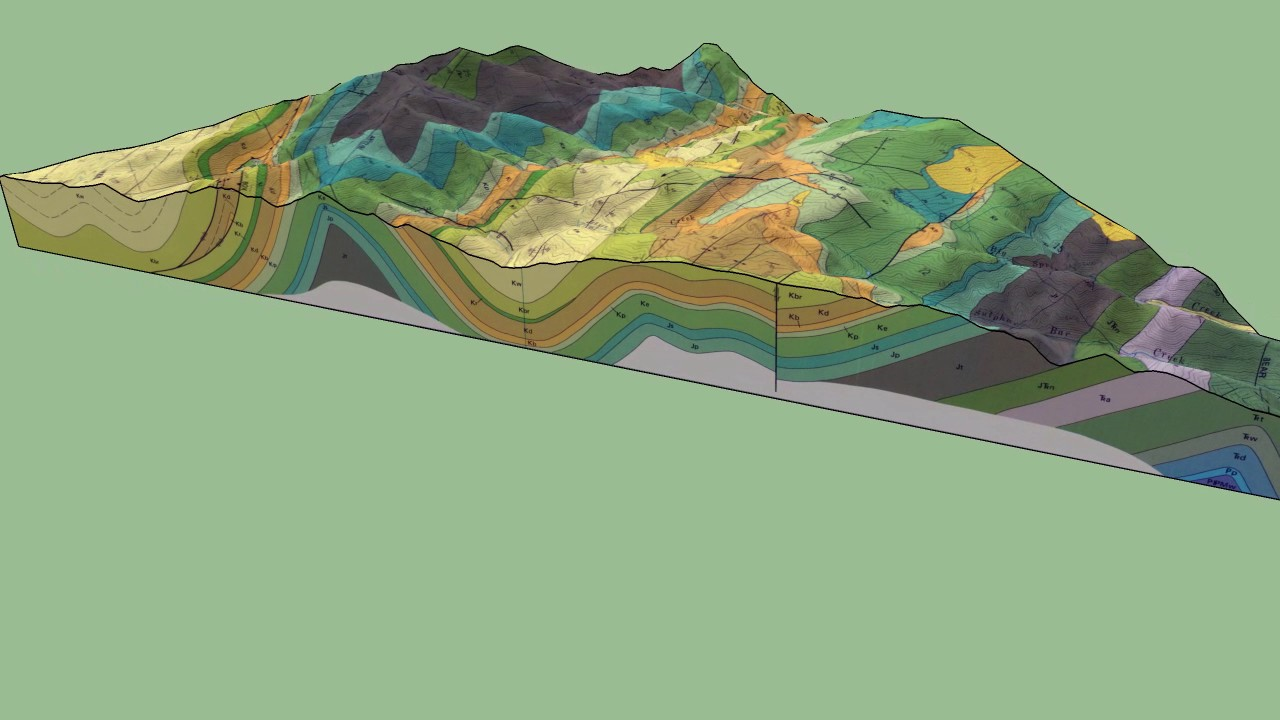 Geologic 3d Block Diagram Of Poker Peak  Idaho