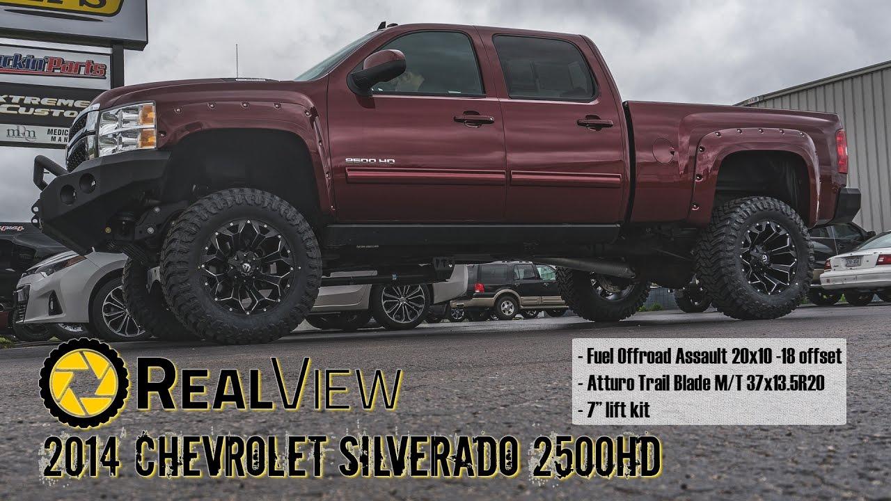 "2014 Chevy Silverado Lifted >> RealView - Lifted 2014 Chevy Silverado 2500HD w/ 20"" Fuel Assaults & 37"" Atturo Trail Blade M/Ts ..."