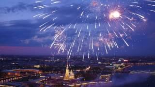 День Победы 9 мая, салют в Санкт Петербурге