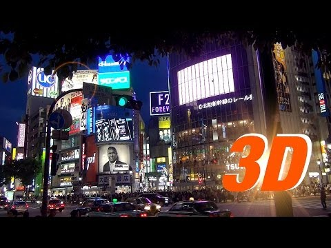 3D Streets around Shibuya Station at night / 夜の渋谷 / Tokyo HD