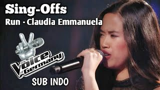 Run - Snow Patrol ( CLAUDIA EMMANUELA SANTOSO ) Sing Offs Voice of Germany 2019 - Subtitle Indonesia