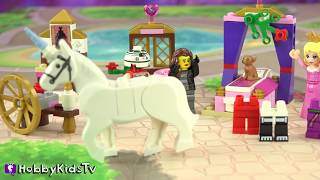 RAINBOW UNICORN! Trixie + Mr. Pants With Disney Lego Princess Sleeping Beauty Review HobbyKidsTV