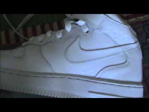 25e7bddf3d95d3 Nike Air Force 1 Mid White - YouTube