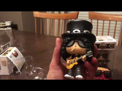 Guns N' Roses Funko Pops! Rocks Vinyl Figures Unboxing & Review: Axl Rose, Slash, Duff McKagan