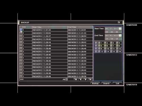 How to Back Up Video Files for the QT Series DVR
