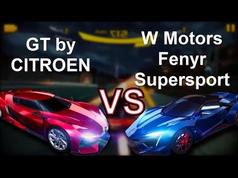Asphalt 8|| GT by CITROEN ||VS||W Motors Fenyr Supersport