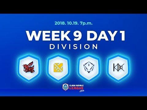 クラロワリーグ アジア シーズン2 Week9 Day1
