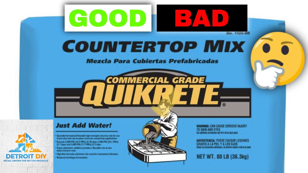 Quikrete Countertop Mix Review