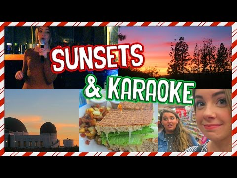 VLOGMAS DAY 7: The Most BEAUTIFUL Sunset & Karoke with Sarah!