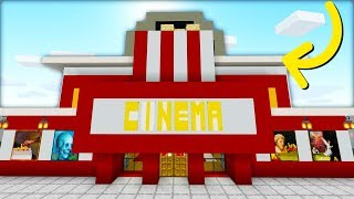 "Minecraft Tutorial: How To Make A Modern Cinema ""2019 City Tutorial"""