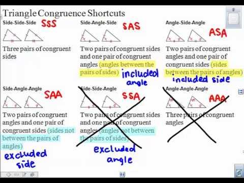 4 4 Triangle Congruence Shortcuts
