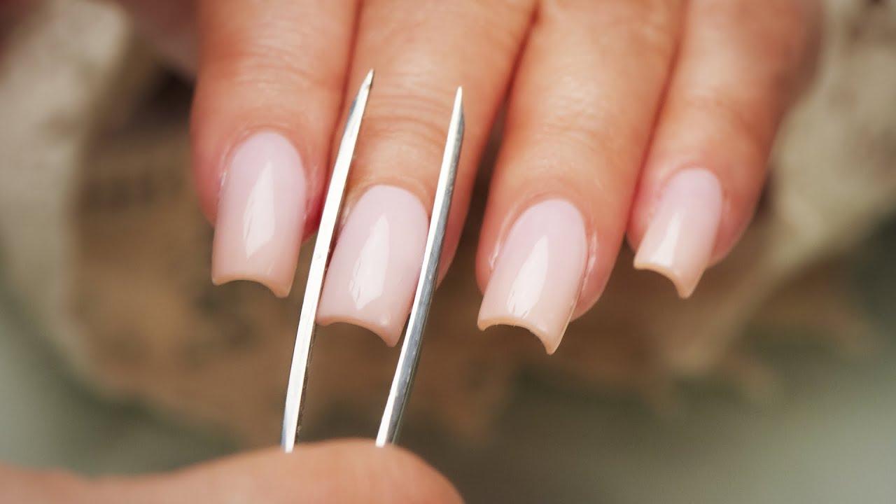 pinching acrylic nails - step