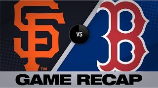 Dickerson's sac fly in the 15th lifts Giants | Giants-Red Sox Game Highlights 9/17/19