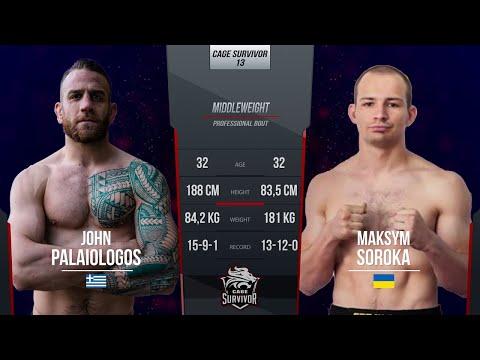 Cage Survivor 13: John Palaiologos vs. Maxim Soroka Full Fight