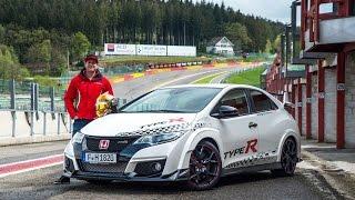 Honda Civic Type R sets new benchmark time at Spa Francorchamps - Rob Huff