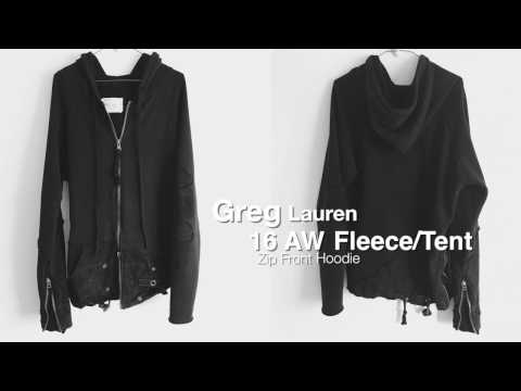 Greg Lauren 16 AW FleeceTent Zip Up Hoodie