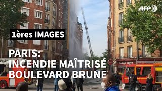 A Paris, fin de l'incendie dans un immeuble du 14e arrondissement | AFP Images