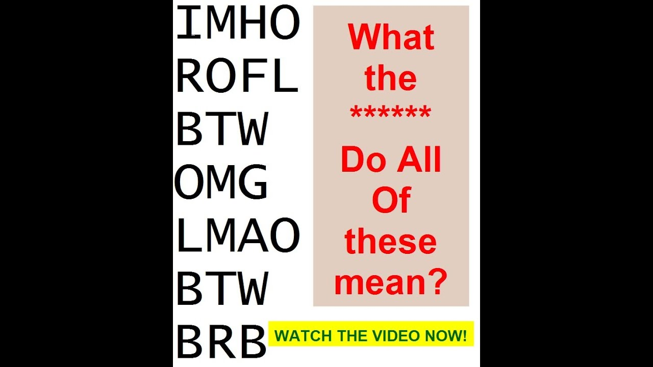What do these text word abbreviations and texting language for Rofl meaning in text
