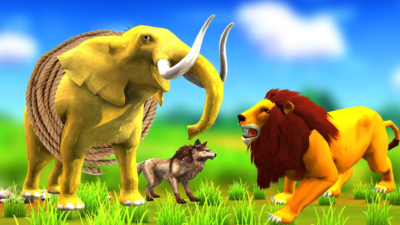 जादुई सुनहरा हाथी और शेर Magical Golden Elephant and Lion Hindi Kahaniya 3D Panchatantra Stories