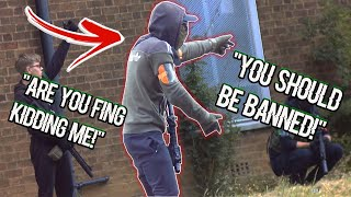 Airsoft Kid LOSES His $@*t With Try Hard MILSIM CHEATER!