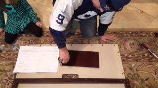 How to put together a electric fireplace