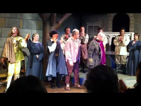 Closing night bow of Cyrano de Bergerac starring J...