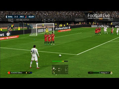 PES 2017 | Real Madrid vs Portugal | Cristiano Ronaldo Hat Trick & Full Match | Gameplay PC