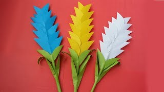 How To Make Heliconia Flower Very Easy !!